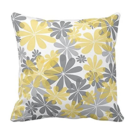 Gray And Yellow Decorative Pillows