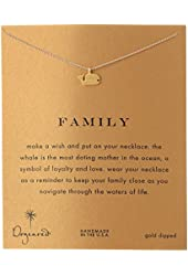 """Dogeared Reminder """"Family"""" Gold-Plated Sterling Silver Whale Pendant Necklace"""
