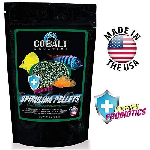 Cobalt Aquatics Spirulina Fish Food Sinking Pellets with ()