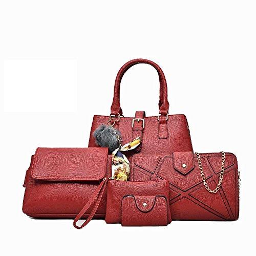Aoligei Pack sous cinq morceaux de fruits Litchi marée automne mode centaines lady sac à main sac D