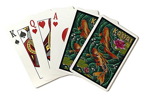 Kauai, Hawaii - Koi Mosaic (Playing Card Deck - 52 Card Poker Size with Jokers)
