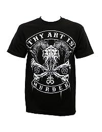 Thy Art Is Murder Men's Baphomet Skull T-Shirt Black