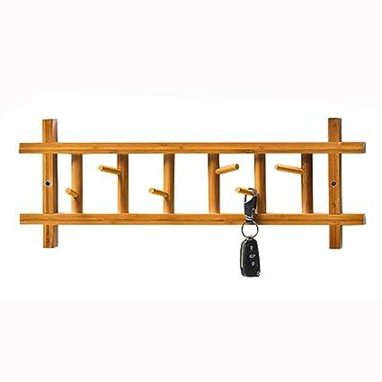 Xyanzi Coat Rack Perchero De Pared Colgadores De Bambú Natural Ganchos para Dormitorios De Pared Acabado