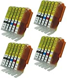 20 Pack of PGI-250BK CLI-251BK Ink Cartridge Replacement Compatible with Printers