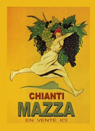 Fashion Lady Girl with Grapes Chianti Mazza Wine
