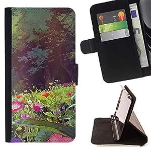 Momo Phone Case / Flip Funda de Cuero Case Cover - Fleurs Forêt Summer Sun - Huawei Ascend P8 (Not for P8 Lite)
