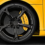 #5: Auto Reflections Yellow Caliper Covers Set of 4 Engraved Corvette For 1988-1966 Chevy Corvette