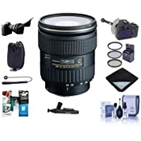 Tokina 24-70mm F/2.8 AT-X Pro FX Lens for Canon EOS DSLR Cameras - Bundle with 82mm Filter Kit, Flex Lens Shade, FocusShifter DSLR Follow Focus, Lens Pouch, Cleaning Kit, Software Package and More