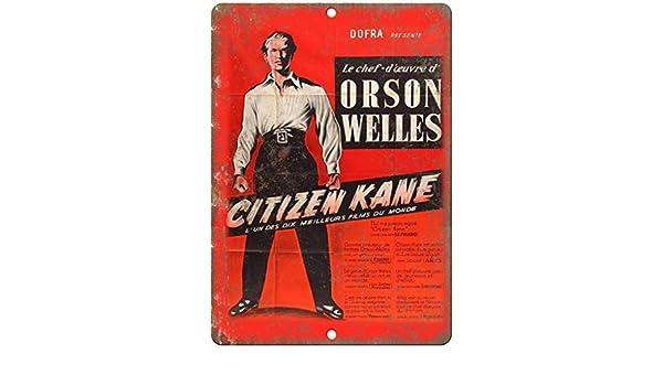 RABEAN Citizen Kane Movie Póster de Pared Metal Creativo Placa ...
