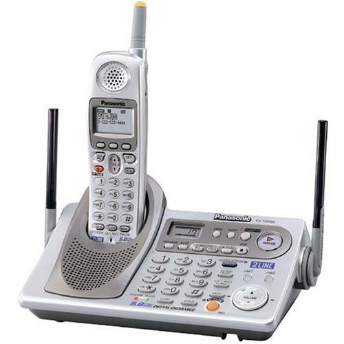 Panasonic KX-TG5480 5.8 GHz FHSS GigaRange 2-Line Digital Cordless Phone System with Answering - 5.8 Speakerphone Ghz Cordless