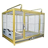 KINGS CAGES LARGE ALUMINIUM PARROT TRAVEL CAGE ATM 2029 GOLD bird toy birds toys