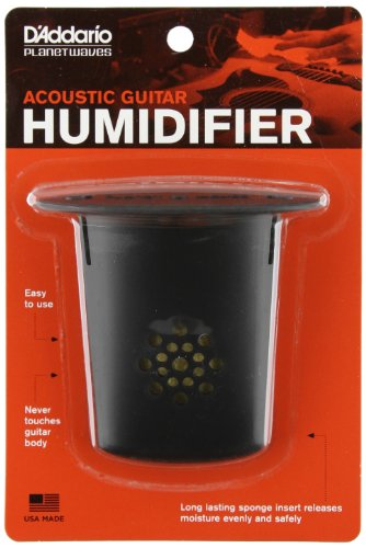 D'Addario Acoustic Guitar Humidifier - Releases Moisture Slowly and Evenly - Protects Instrument from Humidity Without Damaging the Finish - Non-Drip String Suspension Design -Easy to Use and Maintain