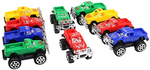 "3"" Pull back Monster Toy Pickup Trucks In Several Colors (1 Dozen)"
