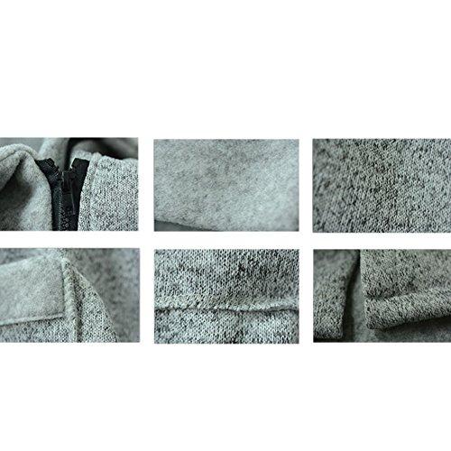 Hzjundasi Coat Jacket invierno con Outwear cremallera Único más alto Casual bolsillos Púrpura Mujeres cuello tamaño sudadera largo rtwRqr