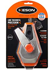 Keson K3XPRO Precision String Chalk Line Reel with 3X1 Rewind, 100-Foot