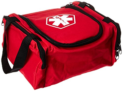 Dixie EMS First Responder Fully Stocked Trauma First Aid Kit, Red (Dixie Supplies)