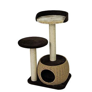 Ludage Marco de Escalada de Gato Tejidos cáñamo Cuerda Grab Post Tejidas a Mano Gato Gatos Pet suministra 60 * 49 * 86 cm: Amazon.es: Hogar