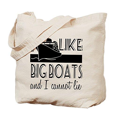 CafePress–I like big barcos–Gamuza de bolsa de lona bolsa, bolsa de la compra