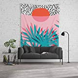 Society6 Wall Tapestry, Size Large: 88'' x 104'', Whoa - Palm Sunrise Southwest California Palm Beach Sun City Los Angeles Retro Palm Springs Resort by wacka