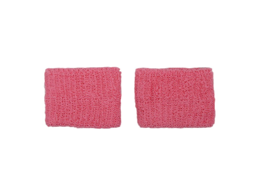 COUVER - Youth - Teenage - Pink Breast Cancer Awareness Sweat Affordable Wirstband - 2.7 inch x 2.3 inch - Pink - 1 pair