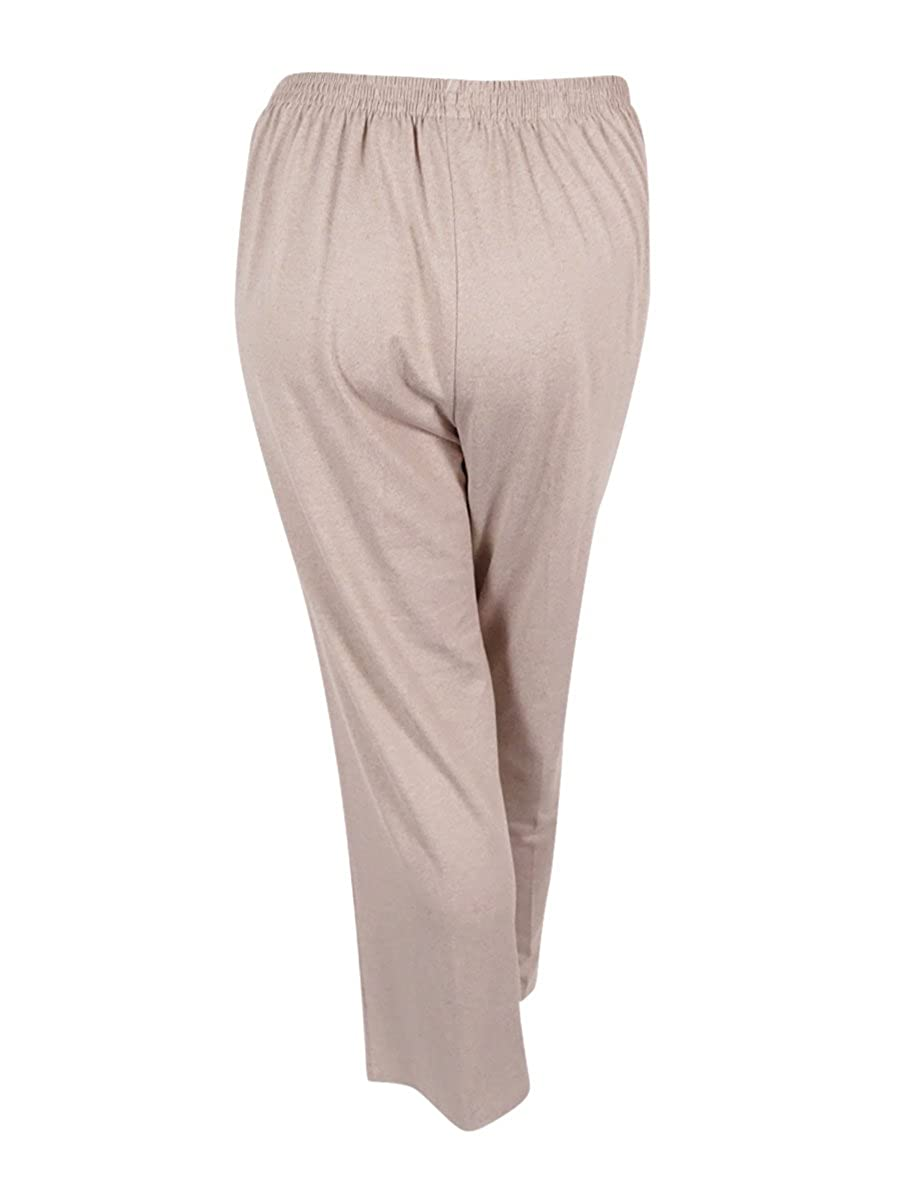 e9e80ddd0a275 Alfred Dunner Women s Plus Size Acadia Pull-On Straight-Leg Pants (Fawn