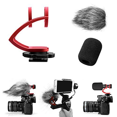 Comica CVM-VM10II Full Metal Compact On Camera Cardioid Directional Mini Shotgun Video Microphone for Smartphone iPhone,HuaWei,DJI Osmo,SonyA9/A7RII/A7RSII,GH4/ GH5, and DSLR Camera(Red)