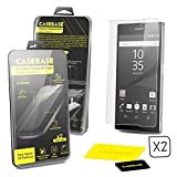 CaseBase® - SONY XPERIA Z5 PREMIUM - Premium Tempered Glass Screen Protector TWIN PACK for Sony Xperia Z5 Premium ** DOUBLE GLASS ** 2 in 1