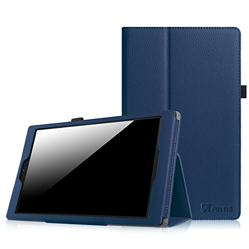 """Fintie Folio Case for Fire HD 10 (Previous Generation - 5th) - Slim Fit Premium Vegan Leather Stand Cover with Auto Wake / Sleep for Amazon Fire HD 10.1"""" Tablet 2015 release, Navy"""