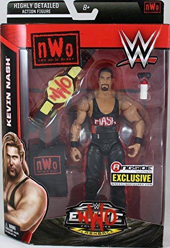 WWE NWO WOLFPAC Kevin NASH - Ringside Collectibles Elite Flashback Exclusive Mattel Toy Wrestling Action Figure ()