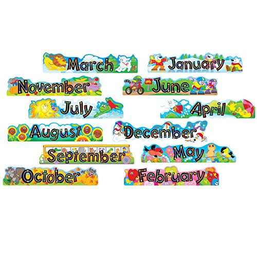 Trend Enterprises Inc. Alpha-Beads 12 Monthly Headers Mini Bulletin Board Set