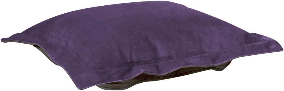 Howard Elliott Puff Ottoman Cushion With Cover, Bella Eggplant