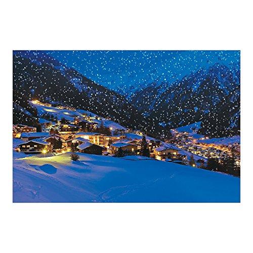 "Fun Express Snow Village Backdrop Banner (108"" X 72"") Plastic - Christmas Decor"
