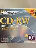5-pack CD-RW Media 8x-10x Only 650MB 74min High Speed