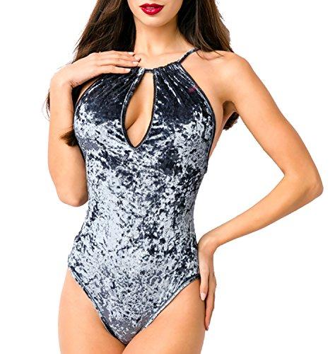 Angies Glamour Fashion - Body - para mujer gris