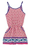 Poshsquare Big Girls Kids Fashion Jewel Pattern Prints Criss Cross Pockets Romper USA PK XL