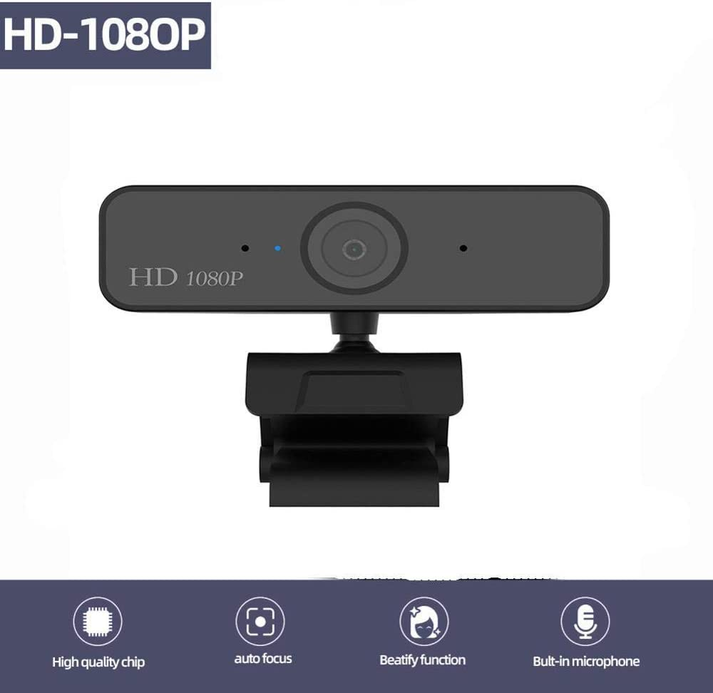 Cámara Web USB 1080P HD 5MP Cámara de computadora con Enfoque automático Cámaras Web Cámara incorporada Micrófono Absorbente de Sonido 1920 * 1080 Resolución dinámica: Amazon.es: Electrónica