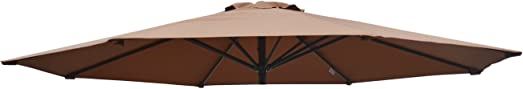BenefitUSA Umbrella Cover Canopy 13ft 8 Rib Patio Replacement Top Outdoor-brown