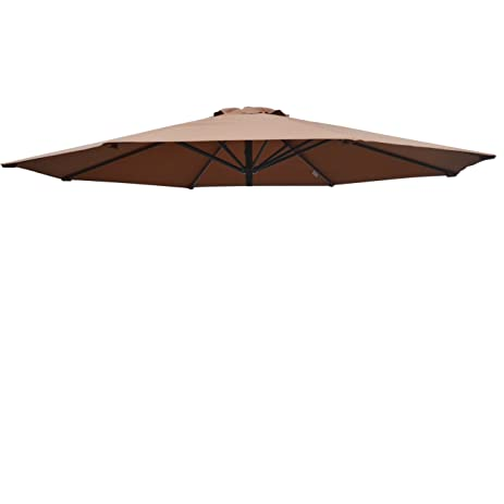 Replacement Patio Umbrella Canopy Cover For 11.5ft 8 Ribs Umbrella Taupe ( CANOPY ONLY)