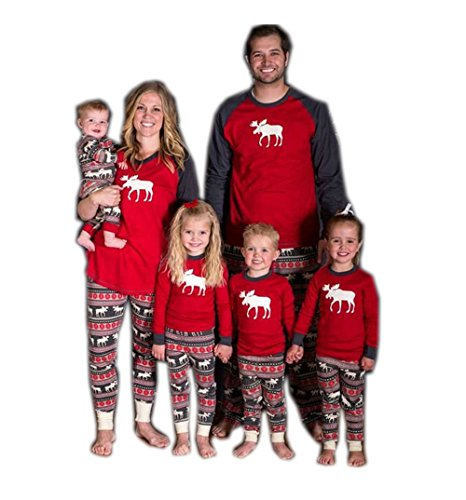 Babe Maps Holiday Family Matching Christmas Pajamas Pjs Sleepwear Sets for Dad L (Family Pajamas Holiday)