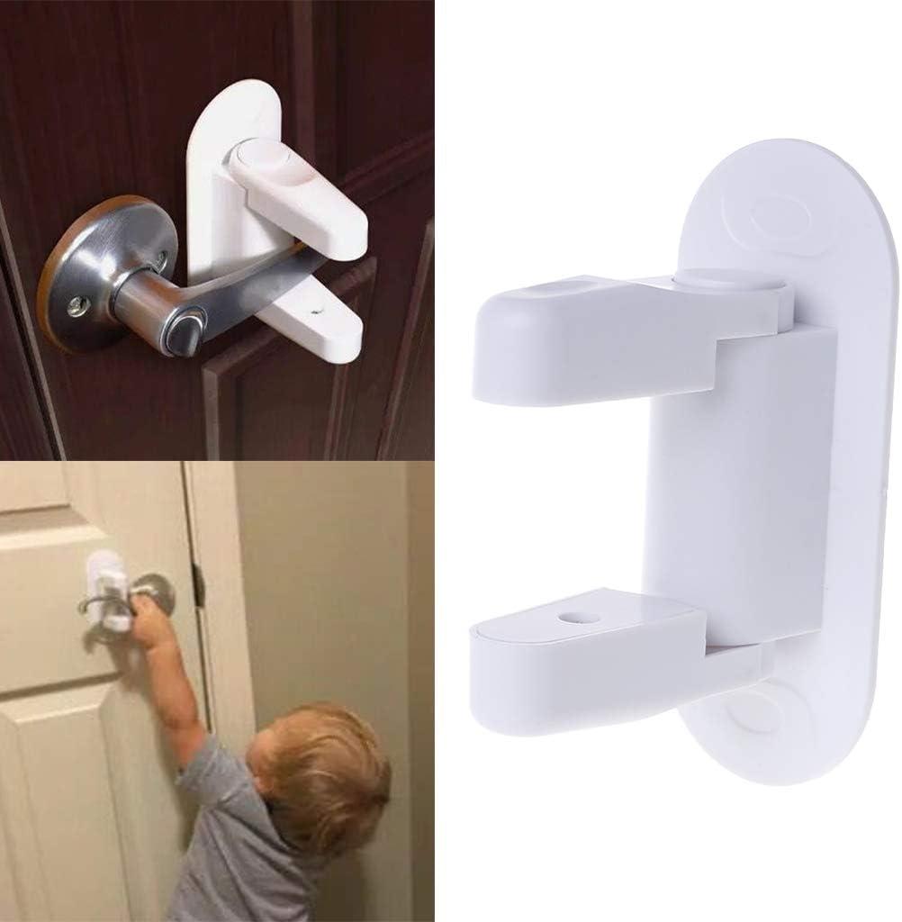 zhangyo b/éb/é s/écurit/é verrouillage porte porte la maison nouveau-n/é enfants enfants protection portes poign/ée universelle adh/ésif compatible