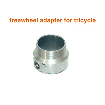 L-faster DIY Electric Bike Spare Freewheel Adapter Tricycle No Teeth Flywheel Connector The Part Between Two Freewheel of 34mm Thread : Sports & Outdoors