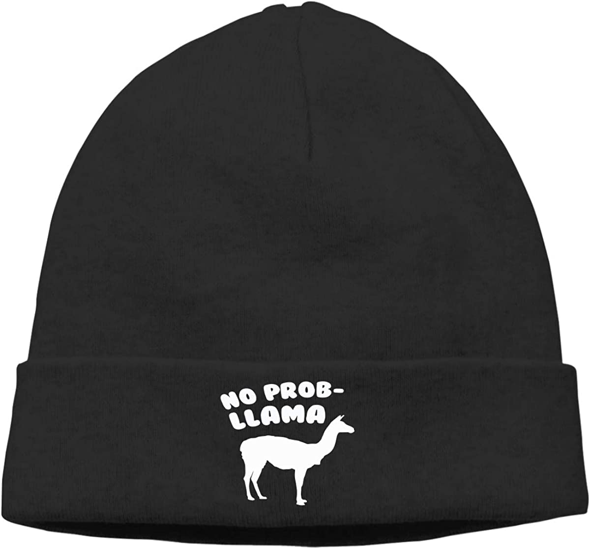 Men Women No Prob Llama Soft Skull Beanie Cap