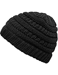 Funky Junque Kids Baby Toddler Ribbed Knit Children's Winter Hat Beanie Cap (Jet Black)