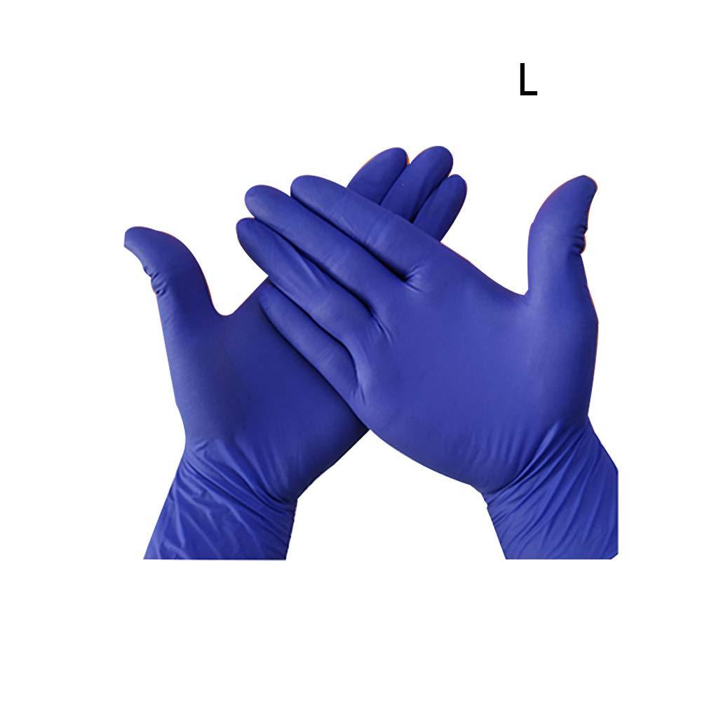 industriales aptos para alimentos small As Picture Show ambidiestros sin polvo extra gruesos sin l/átex 100 guantes desechables de nitrilo