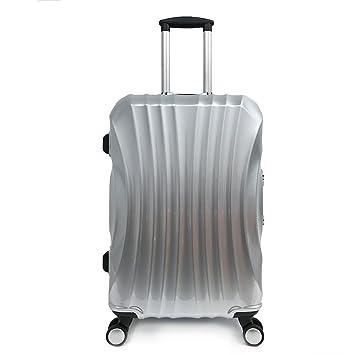 Maleta 4 ruedas ABS PC equipaje ligera maleta rígida cremallera aluminio 68x40x26cm Gris: Amazon.es: Equipaje