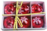 VIPASNAM-Snowflake Shatterproof 3.15 (80mm) Christmas Ball Ornaments/Decorations - Set 6