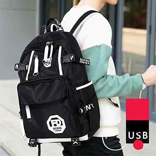 Laptop wasserabweisend Business Rucksack Freizeit Computer Staubbeutel mit USB Lade-Schnittstelle stil 3 freesize stil 4 7SmMRdIEq