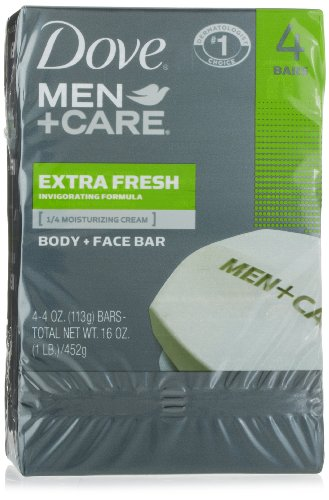 Dove Men + Care Body and Face Bar, extra frais, 4 once, 4 Count (pack de 2)