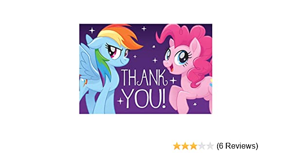 Postcard Thank Yous My Little Pony Friendship Collection Party Accessory