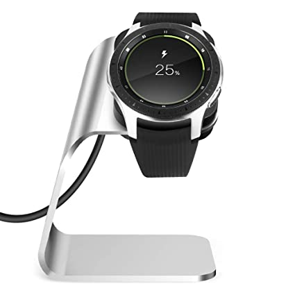 NANW Compatible with Samsung Galaxy Watch 42mm 46mm Gear S3 Charger, Replacement Charging Cradle Dock Station Adapter Holder with 4.2ft USB Charging ...